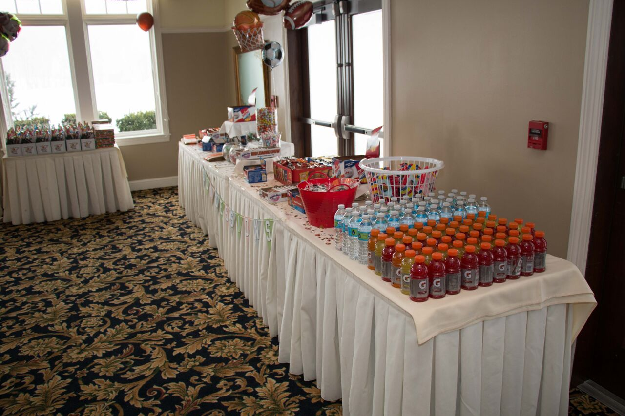 Concession Table Side View